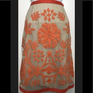 ETCETERA Skirt Lace Overlay Embroidered Floral
